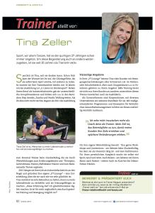 Tina Zeller im Trainer Magazin - 04-2017