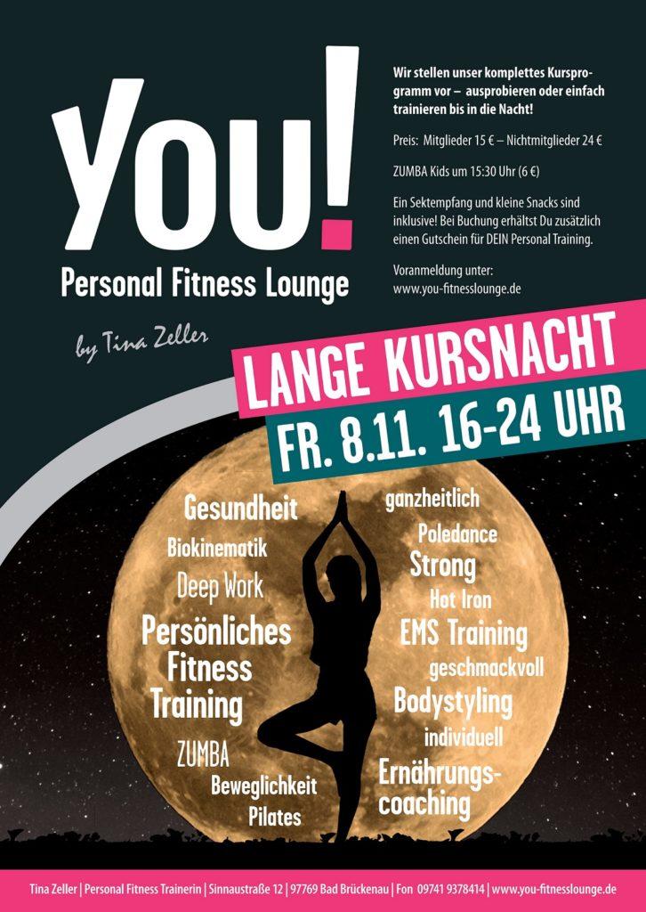 YOU Fitnesslounge - Lange Kursnacht